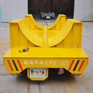 1-300t Capacity Battery Operated Mototrized Transfer Trolley in Aluminium Factory (KPX-20T) pictures & photos