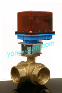Dn32 3-Way Brass Motorized Ball Valve L/T Type (BS-898-32S) pictures & photos