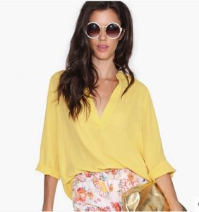 New Arrival Lady Top Fashion Chiffon Blouse for Women pictures & photos