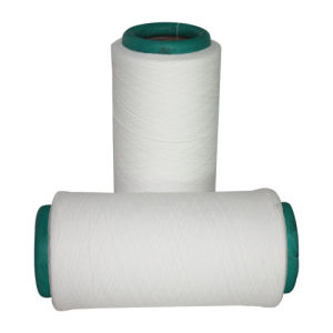 150d/96f Polyester Air Covered Yarn 150d/48f SD Raw White+40d Lycra Invista pictures & photos