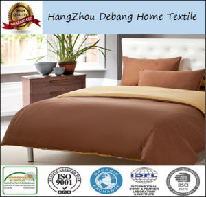 High Quality Solid Color Double Brushed Microfiber Fabrics Bedding Sheet Sets pictures & photos