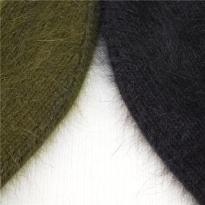 Fashion Women′s Cuff Logo Embroidery Nylon and Angora Long Hair Beanie pictures & photos