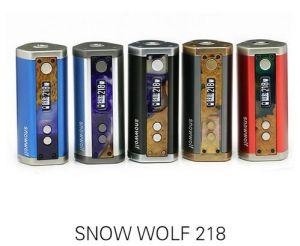 Elektronik Sigara Original Sigelei Snowwolf 218 Box Mod 10W-218W 0.1-3.0ohm Tc Mod Electronic Cigarettes Snowwolf