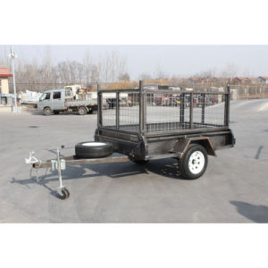 Farm Hot Galvanized Tandem Box Cage Trailer on Sale pictures & photos