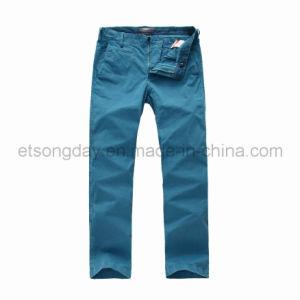 Light Blue Cotton Spandex Men′s Trousers (JGY-1303) pictures & photos