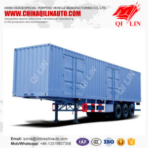 Curtain Side Wall Open Van Box /Wing Opening Semi Trailer pictures & photos
