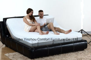 Electric Bed Adjustable Bed Massage Bed with Memory Foam Mattress pictures & photos