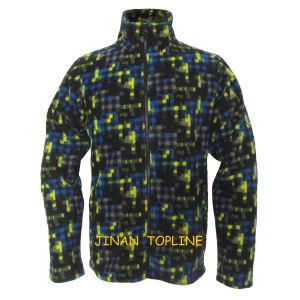 Men Long Sleeve Printed Micro Fleece Jacket pictures & photos