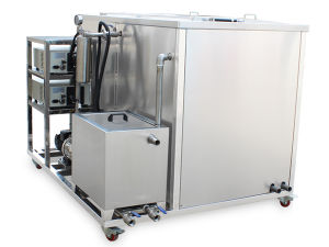 Power Heater Dual Tanks Cleaning and Drying Ultrasounds Machine Ultrasonic Cleaner pictures & photos