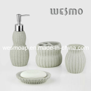 Sanitary Ware Sandstone Finish Polyresin Bath Set (WBP0283A) pictures & photos