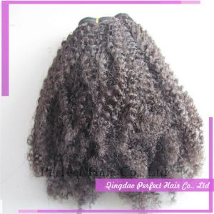 Good Suppliers Double Weft Afro Curl Virgin Brazilian Human Hair pictures & photos