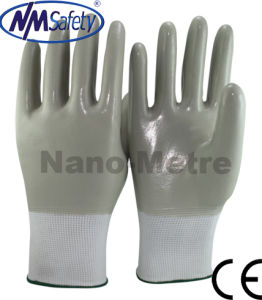 Nmsafety Nylon Fully Coated Smooth Nitrile Oil Field Work Gloves pictures & photos