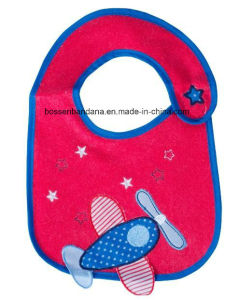 OEM Produce Customzied Cute Design Applique Embroidered Cotton Promotional Customized Baby Bib pictures & photos