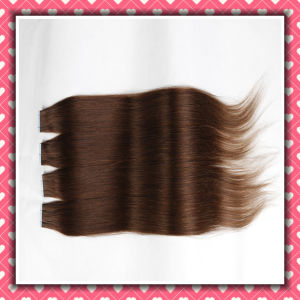 Wholesale Remy Human Hair Skin Weft Silky 24inches pictures & photos