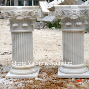 White Marble Stone Sculpture Column Pillar (SY-C002) pictures & photos