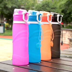 Wholesale New Folding Silicone Plastic Water Bottles 750ml pictures & photos