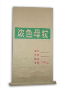 Concentrated Plastic Masterbatch Seam Bottom Kraft Paper Bag pictures & photos