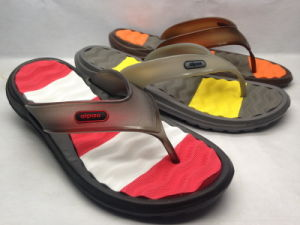 Fashion Men Injection EVA Slippers with V Strap (21iy17014) pictures & photos