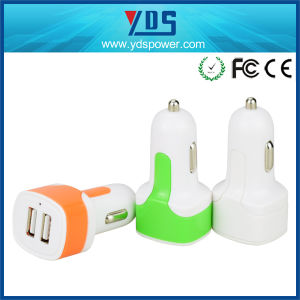 Dual USB Car Charger with Many Colors pictures & photos