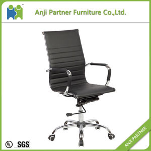 Good Selling Elegant High Back Chrome Metal Armrest Office Chair (Sonamu) pictures & photos