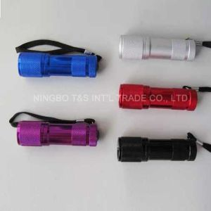 9 LED Aluminum Alloy Torch with Lanyard (T4069) pictures & photos
