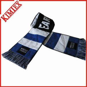 Acrylic Single Layer Promotion Woven Jacquard Fans Football Scarf pictures & photos