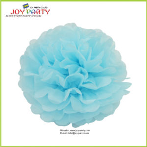 Light Blue Paper POM Poms for Baby Shower pictures & photos