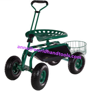 Rolling Garden Cart with Extendable Steering Handle pictures & photos