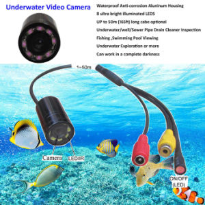 Long Cable Waterproof Underwater Fishing Video Camera with 8LED/IR850nm/940nm for Fish Finder pictures & photos