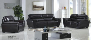 Black Genuine Leather Sofa in Office and Living Room Furniture (01) pictures & photos