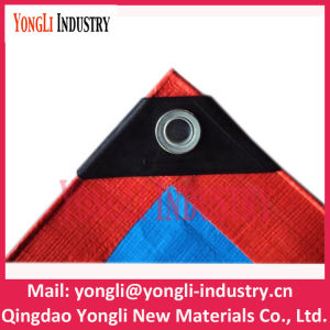 High Quality Blue Orang Tarpaulin with Black Corner pictures & photos