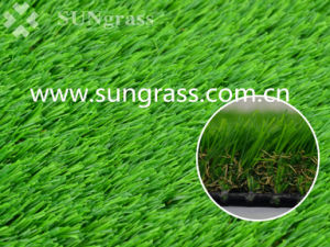 35mm Four Tones Landscaping Garden Synthetic Turf (SUNQ-HY00131) pictures & photos