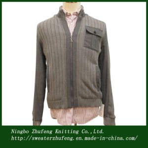 Men′s Sweater Jacket with Cotton Lining Nbzf0034