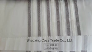 New Popular Project Stripe Organza Sheer Curtain Fabric 008228 pictures & photos