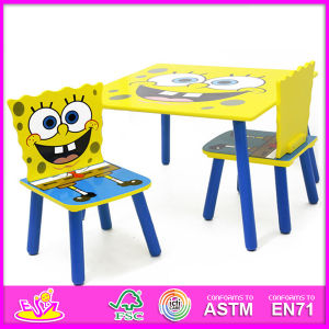 2015 Kids Wooden Table and Chairs, Colorful Kids Furniture Table and Chair, High Quality Wooden Table and Chair Toy W08g102 pictures & photos