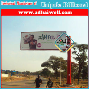 Single Pole Double Side Roadside Outdoor Advertising Billboard pictures & photos