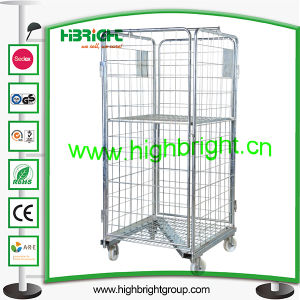 Supermarket Metal Laundry Transportation Trolley pictures & photos