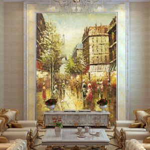 Factory Direct Wholesale Painting Impressionist Paris Street Art Canvas Oil Paintings pictures & photos