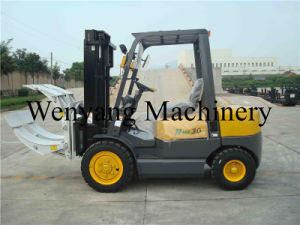 3t Counterbalanced Engine Power Forklift with Paper Roll Clamp pictures & photos