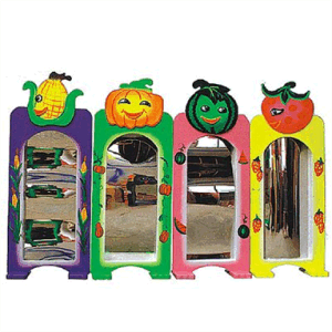 China Children Indoor Plastic Toy Fruit Theme Magic Distorting Mirror for Magic Mirror Sale (JS8192) pictures & photos