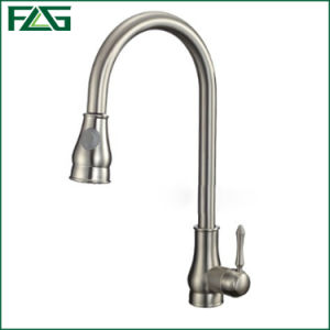 Flg Pull-out Spray Kitchen Faucets Nickle Brush Finishing/Taps/Mixer pictures & photos
