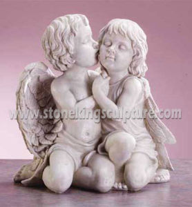 Carved Marble Angels with Wing (sk-2195) pictures & photos