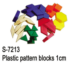 Educational Toys, Teaching Aid, Plastic Pattern Block 1cm (S-7213)