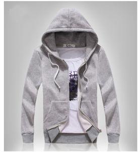Pullover Fleece Supreme Grey Zip up Sweatshirt/Hoodie Manufacturers pictures & photos