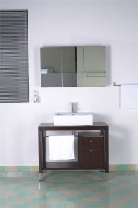 Solid Wood Customized Plywood MDF Veneer Bathroom Furniture