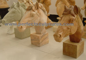 Carving Stone Marble Horse Animal Sculpture for Garden Statue (SY-B161) pictures & photos