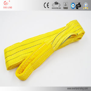 3ton Yellow Polyester Eye & Eye Webbing Slings for Safe Lifting with High Quality