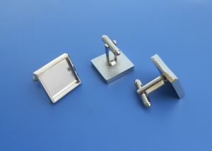 Custom Zinc Alloy Rectangular Metal Blank Cufflinks pictures & photos