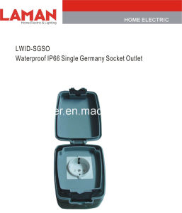 LWIPD-SGSO IP65 Waterproof Germany Socket Outlet