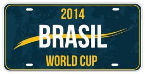 Brazilian Decorative License Plate/World Cup Decorative License Plate in Brazil pictures & photos
